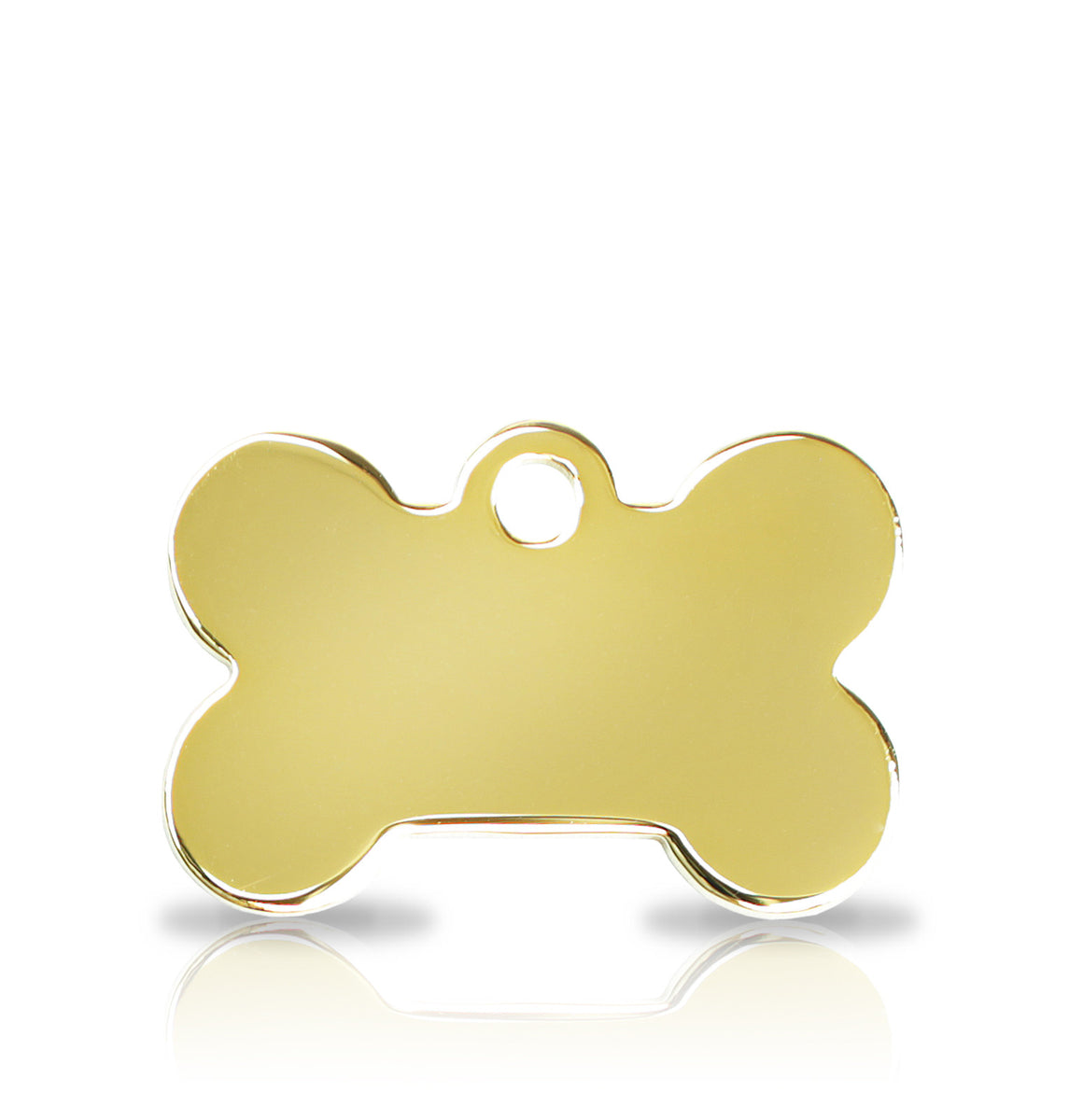 TaggIT Prestige Small Bone Gold iMarc Pet Tag