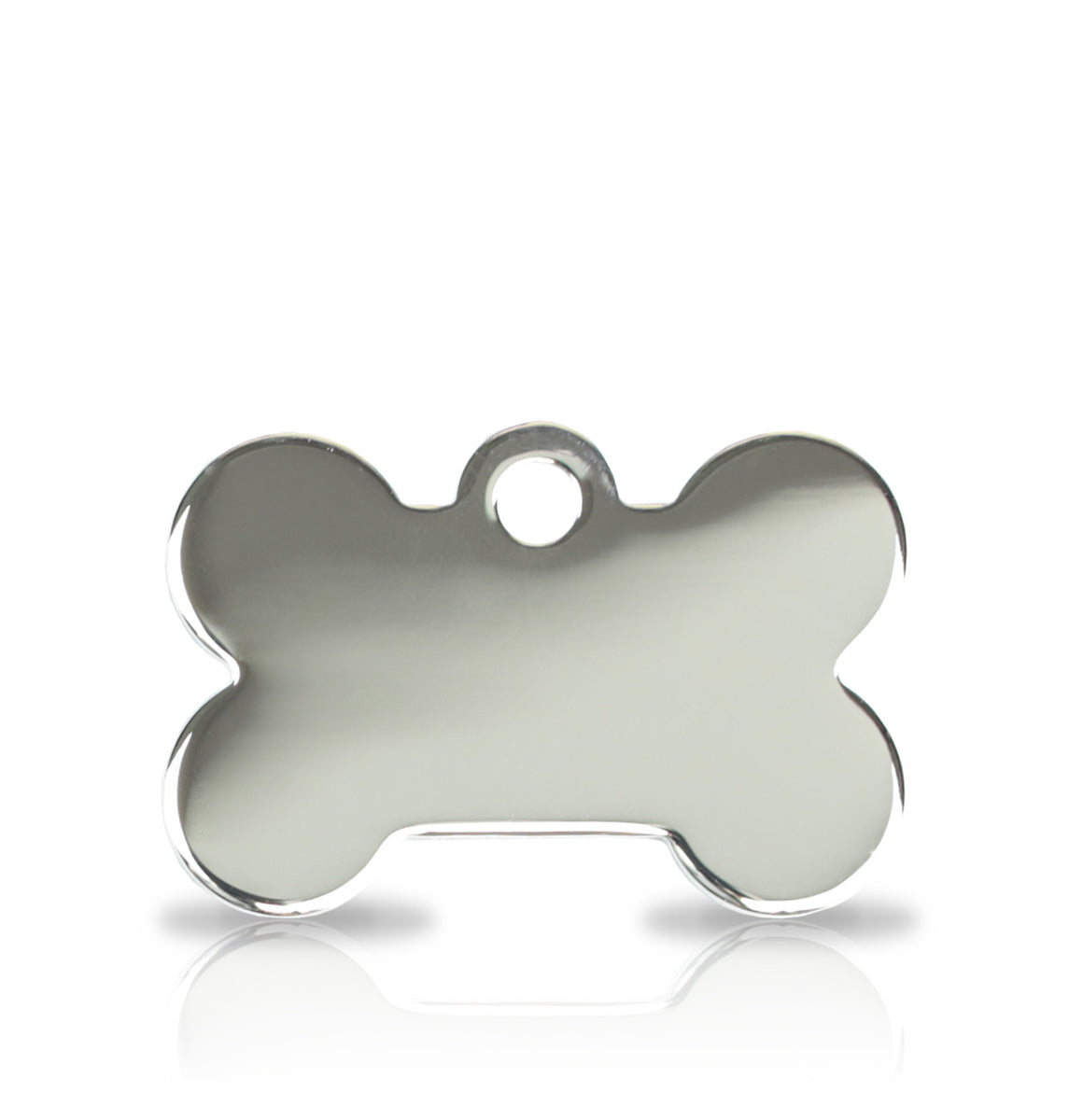 TaggIT Prestige Small Bone Silver iMarc Engraving Dog Tag