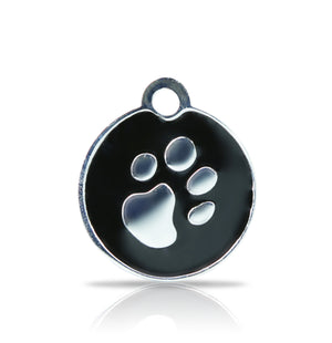 TaggIT Elegance Small Disc Black & Silver iMarc Pet Tag