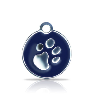 TaggIT Elegance Small Disc Blue & Silver iMarc Pet Tag