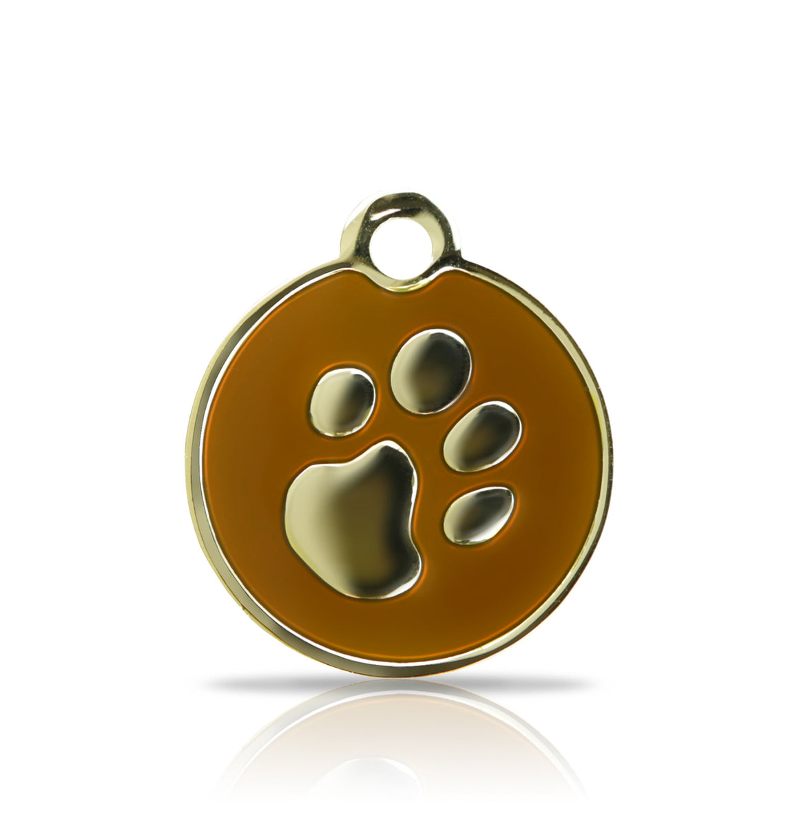 TaggIT Elegance Small Disc Brown & Gold Dog Tag iMarc Tag