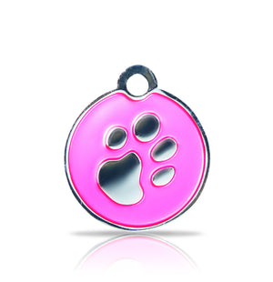 TaggIT Elegance Small Disc Pink & Silver iMarc Pet Tag