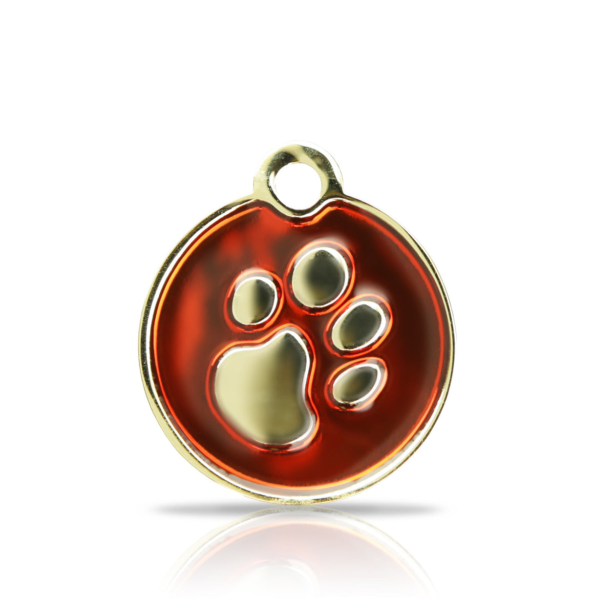 TaggIT Elegance Small Disc Red & Gold iMarc Pet Tag