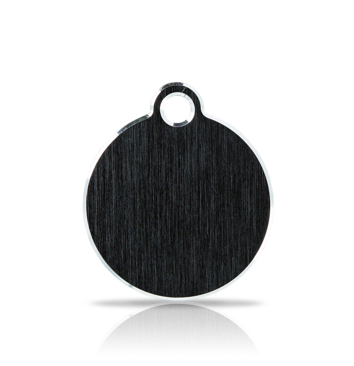 TaggIT Hi-Line Small Disc Black Aluminium iMarc Dog ID Tag