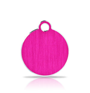 TaggIT Hi-Line Small Disc Pink iMarc Pet ID Tag