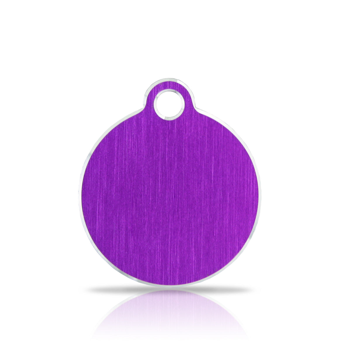 TaggIT Hi-Line Small Disc Purple Aluminium iMarc Pet Tag