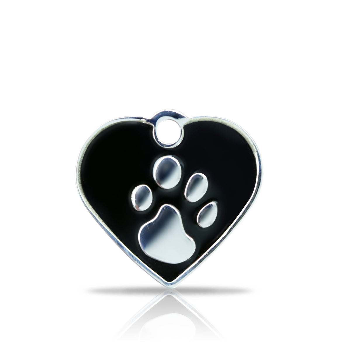 TaggIT Elegance Small Heart Black & Silver iMarc Tag