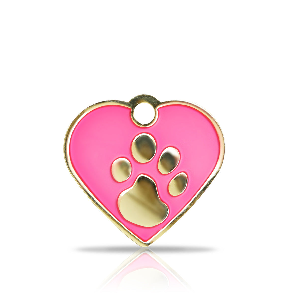 TaggIT Elegance Small Heart Pink & Gold iMarc Engraving Tag