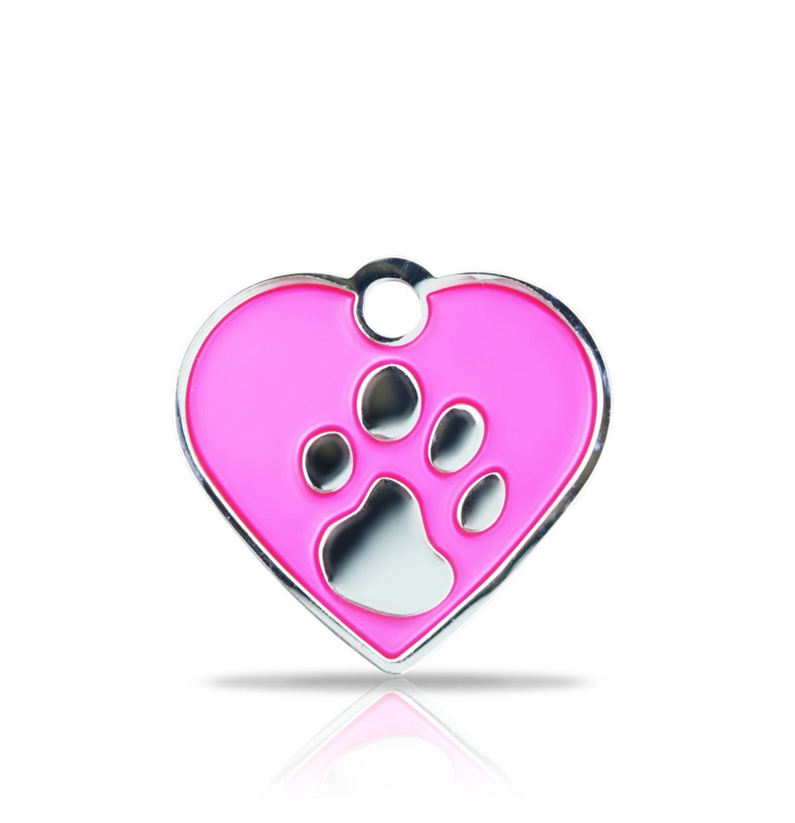TaggIT Elegance Small Heart Pink & Silver iMarc Engraving Tag