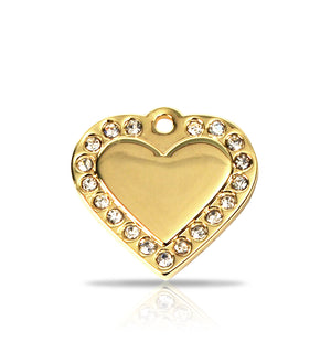 TaggIT Glamour Small Heart Bling Pet Tag iMarc Pet Tag