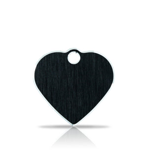 TaggIT Hi-Line Small Heart Black iMarc Pet ID Tag