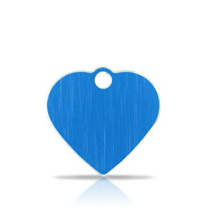 TaggIT Hi-Line Aluminium Small Blue Heart iMarc Pet Tag