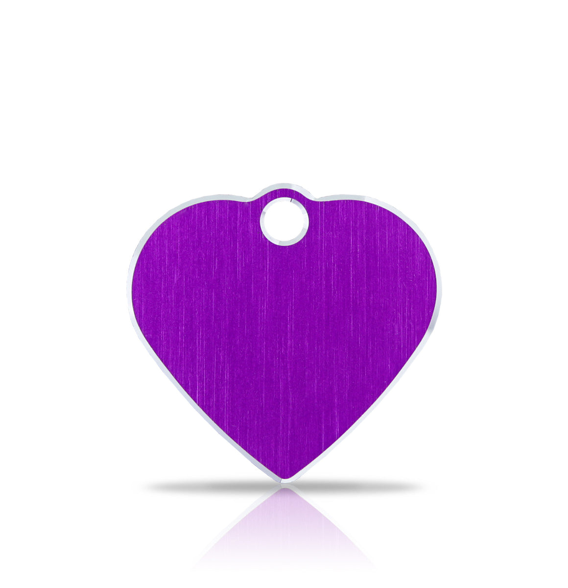 TaggIT Hi-Line Aluminium Purple Small Heart iMarc Pet ID Tag