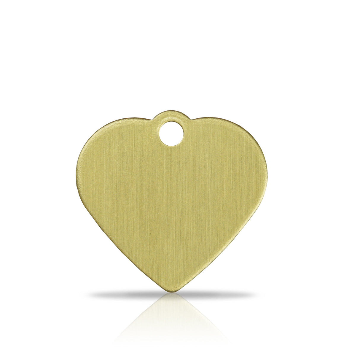 TaggIT Brass Series Small Heart Dog Tag Pet Tag iMarc Tag