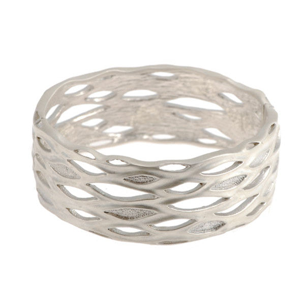 Libertine Silver Wide Bangle