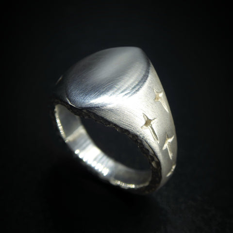 Trinity Silver Small Signet Ring