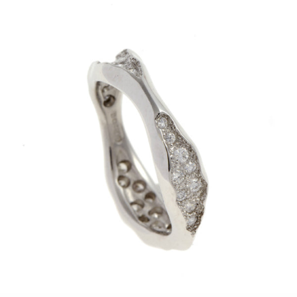 Triffid Silver Triple Section Ring With Pavé Set Cubic Zirconia