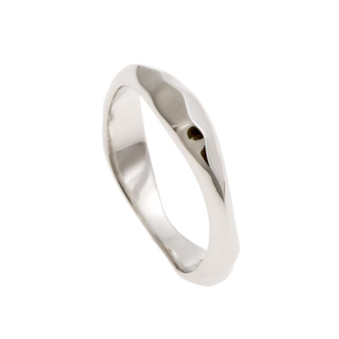 Triffid Platinum VR5 Triple Section Wedding Ring