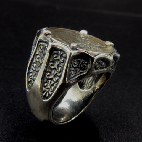 Hoye Division Limited Edition Silver Hobo Coin Ring