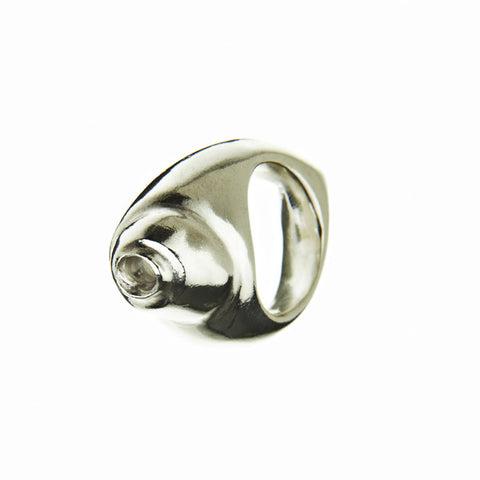 Shell Heavy Silver Ring