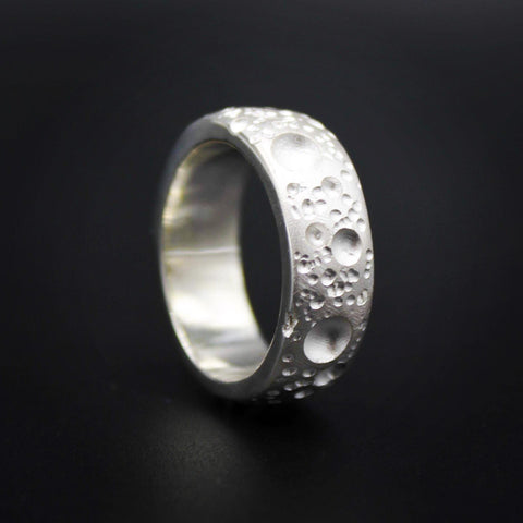 Moon Silver 8mm Band