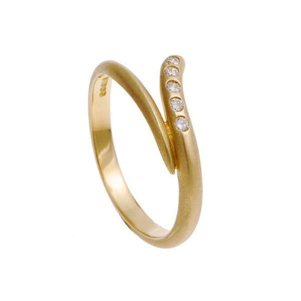 Tulip 18ct Yellow Gold Diamond Wedding Ring