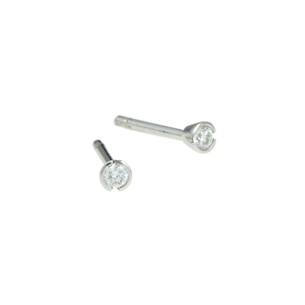 Blue Platinum 16pt Diamond Studs