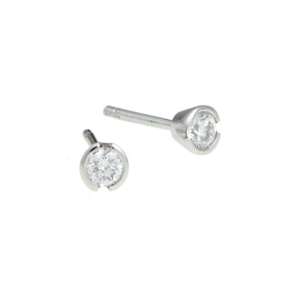 Blue Platinum .30pt Diamond Studs