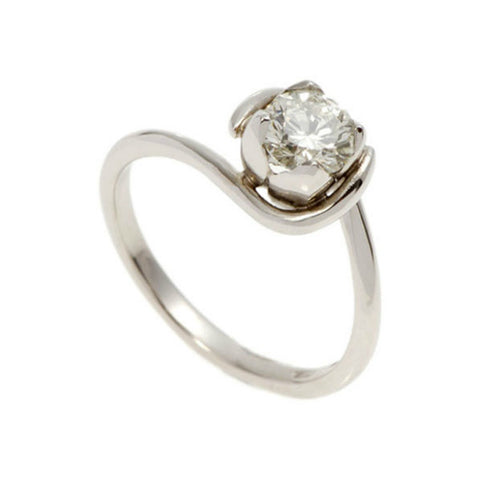 Tulip Platinum 0.50pt Diamond Solitaire Engagement Ring
