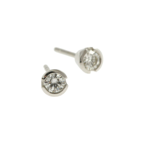 Blue 18ct White Gold 30pt Diamond Ear Studs