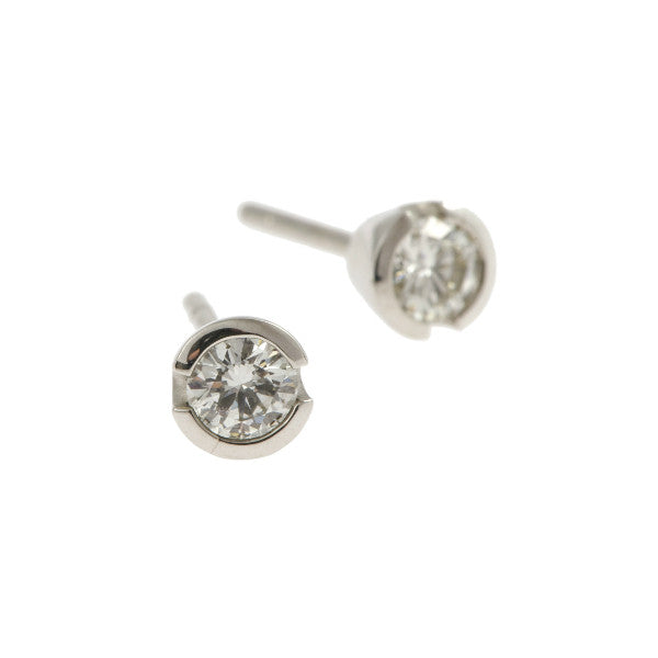 Blue 18ct White Gold 40pt Diamond Ear Studs