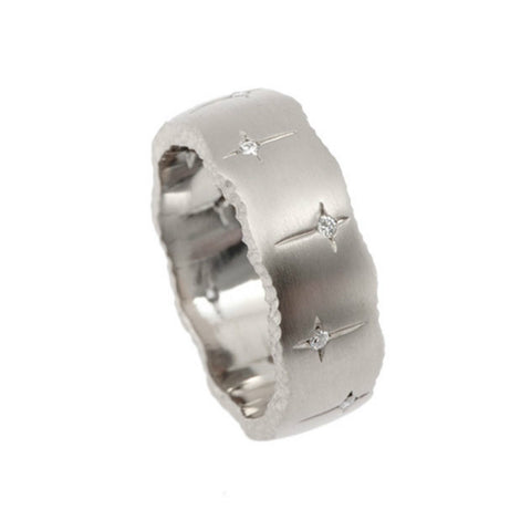 Trinity 18ct White Gold 7.5mm Diamond Ring