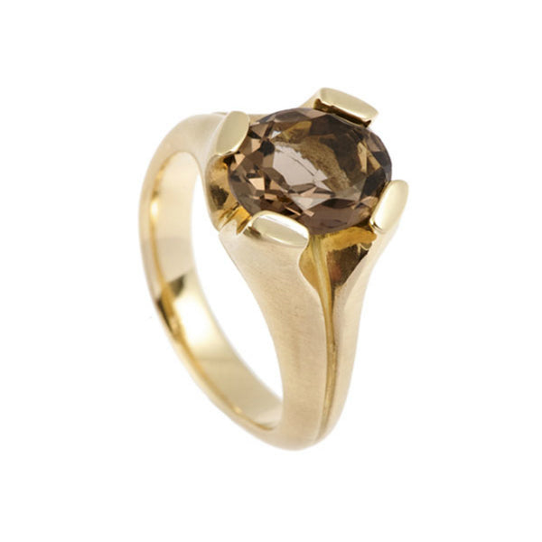 Kaleidoscope 9ct Gold Ring With Smoky Quartz