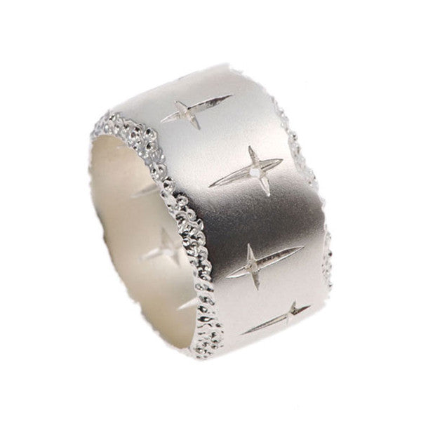Trinity wide silver ring