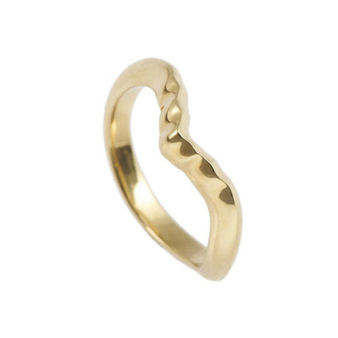 Triffid 18ct Gold VR4 Marquise Wedding Ring