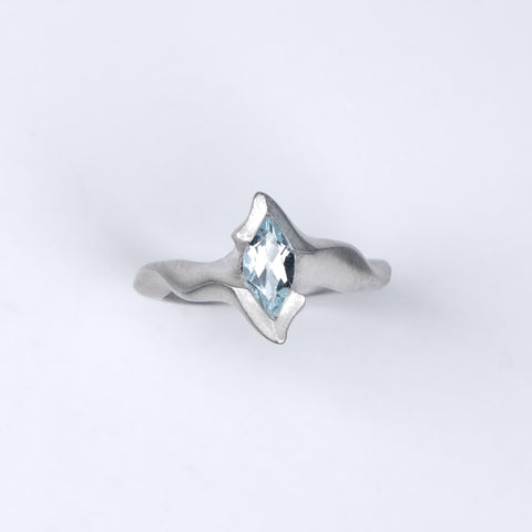 Electra Silver Ring with Marquise Sky Blue Topaz