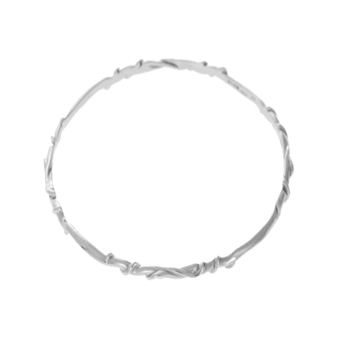 Entwine Silver Bangle