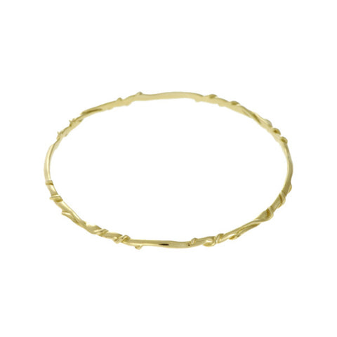Entwine 9ct Yellow Gold Bangle