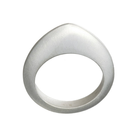 Flat Top Silver Ring