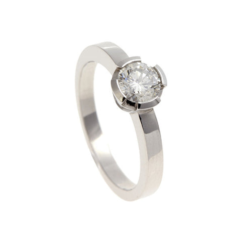 Castle Platinum Solitaire With .75pt Brilliant Cut Diamond
