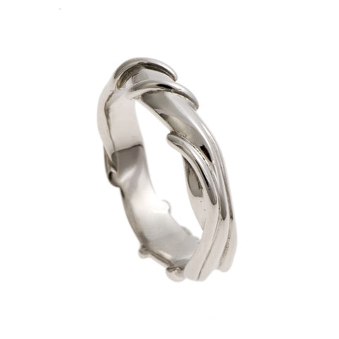 Entwine Platinum Wide Ring
