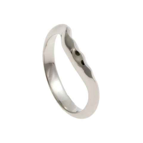 Triffid Platinum VR6 Off-Centre Wedding Ring