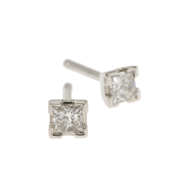 Castle 18ct White Gold .50pt Diamond Studs