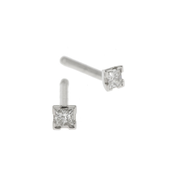Castle Platinum .16pt Diamond Studs