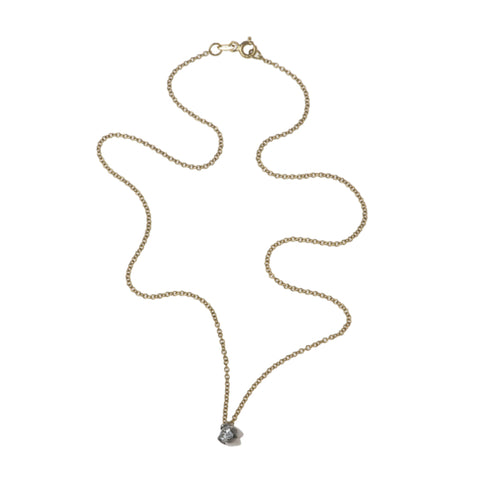 Tulip 18ct Yellow Gold .25pt Diamond Necklace