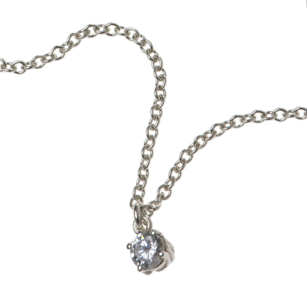 Entwine Silver Necklace with Cubic Zirconia