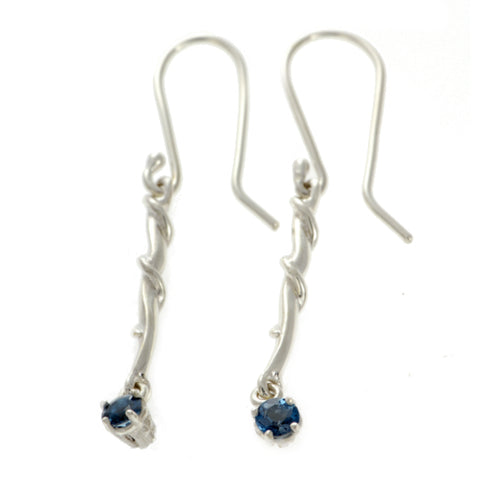 Entwine Silver Drops with London Blue Topaz