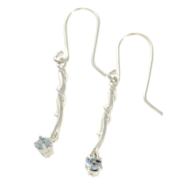 Entwine Silver Drops with Sky Blue Topaz