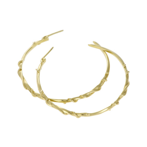 Entwine 9ct Yellow Gold Large Hoops