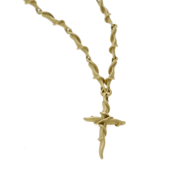 Entwine 9ct Yellow Gold Cross Link Necklace